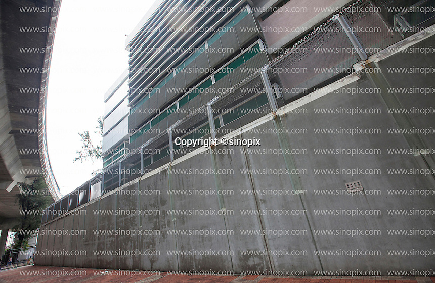 A high wall surrounds the Lai Chi Kok Reception Centre where British ex-banker Rurik Jutting is being held since his arrest for the alleged killing of two Indonesian women in October 2014, Hong Kong, China, 01 November 2016.