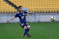 Japan&rsquo;s Risa Shimizu in action during the  International Football - Football Ferns v Japan  at Westpac Stadium, Wellington, New Zealand on Sunday 10 June 2018.<br /> Photo by Masanori Udagawa. <br /> www.photowellington.photoshelter.com