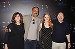 LAS VEGAS, NV - MARCH 28: (L-R) Producers Amy Pascal, Matt Jackson, actress Jessica Chastain and producer Mark Gordon at CinemaCon 2017 The State of the Industry: Past, Present and Future and STXfilms Presentation at The Colosseum at Caesars Palace during CinemaCon, the official convention of the National Association of Theatre Owners, on March 28, 2017 in Las Vegas, Nevada.