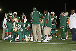 Carson  Colts vs Long Beach Poly (CIF Southern Section).Offensive Line 2nd quarter time out.Veteran Memorial Stadium.Long Beach, California  21 Sept 2007.OM3D6161.JPG.CREDIT: Dirk Dewachter