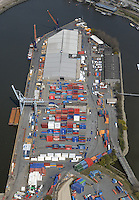 Rossterminal im Travehafen: EUROPA, DEUTSCHLAND, HAMBURG 20.04.2015 Rossterminal im Travehafen