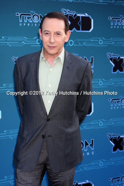 "LOS ANGELES - MAY 12:  Paul Reubens arrives at the Disney XD's ""TRON: Uprising"" Press Event and Reception at DisneyToon Studios/Disney Television Animation on May 12, 2012 in Glendale, CA"
