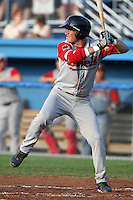Lowell Spinners second baseman Nick Robinson during a game vs. the Batavia Muckdogs at Dwyer Stadium in Batavia, New York July 14, 2010.   Batavia defeated Lowell 12-2.  Photo By Mike Janes/Four Seam Images