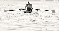 Poznan, POLAND, ASM1X, Tom AGGAR, competing in the heats of the AS men's single scull, on the Second day of the, 2009 FISA World Rowing Championships. held on the Malta Rowing lake, Monday 24/08/2009 [Mandatory Credit. Peter Spurrier/Intersport Images] ; Adaptive.
