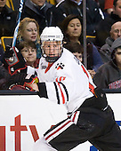 Steve Quailer (Northeastern - 10) - The Northeastern University Huskies defeated the Harvard University Crimson 4-0 in their Beanpot opener on Monday, February 7, 2011, at TD Garden in Boston, Massachusetts.