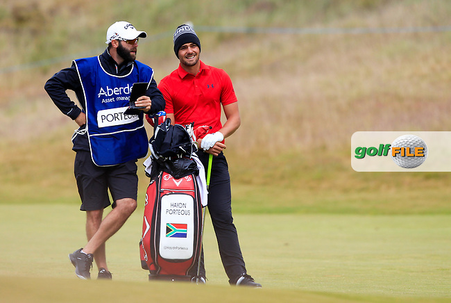 Hayden Porteous (RSA) during the first round of the Aberdeen Asset Management Scottish Open 2016, Castle Stuart  Golf links, Inverness, Scotland. 07/07/2016.<br /> Picture Fran Caffrey / Golffile.ie<br /> <br /> All photo usage must carry mandatory copyright credit (&copy; Golffile | Fran Caffrey)