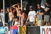 Partizan Belgrade fans<br /> <br /> Photographer Kevin Barnes/CameraSport<br /> <br /> UEFA Europa League 2nd Qualifying Round 1st Leg - Connah's Quay Nomads v Partizan Belgrade - Thursday July 25th 2019 - Belle Vue Stadium - Rhyl<br />  <br /> World Copyright © 2019 CameraSport. All rights reserved. 43 Linden Ave. Countesthorpe. Leicester. England. LE8 5PG - Tel: +44 (0) 116 277 4147 - admin@camerasport.com - www.camerasport.com