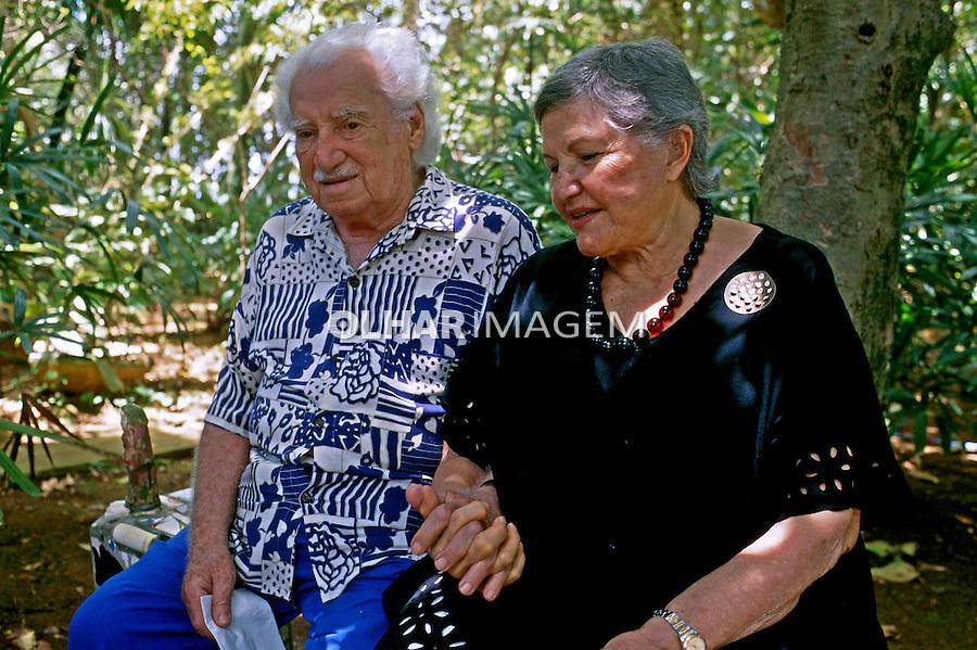 Pessoa. Personalidade. Jorge Amado e Zélia Gattai, escritores. BA. 1998. Foto de Ricardo Azoury.