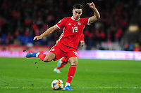 Tom Lawrence of Wales in action during the UEFA Euro 2020 Qualifier match between Wales and Azerbaijan at the Cardiff City Stadium in Cardiff, Wales, UK. Friday 06, September 2019