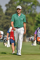Justin Thomas (USA) acknowledges the roar of the large crowd on 18 as he approaches the green after holing out his approach shot during round 4 of the World Golf Championships, Mexico, Club De Golf Chapultepec, Mexico City, Mexico. 3/4/2018.<br /> Picture: Golffile | Ken Murray<br /> <br /> <br /> All photo usage must carry mandatory copyright credit (© Golffile | Ken Murray)
