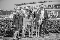 GER-Ingrid Klimke and her gorgeous daughter, Greta, and Carmen Thiemann, along with  Anna Siemer and her husband. The Opening Ceremony celebrating the 2019 Partne Country: France. 2019 GER-CHIO Aachen Weltfest des Pferdesports. Tuesday 16 July. Copyright Photo: Libby Law Photography
