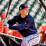25 February 2019: Atlanta Braves outfielder Drew Waters in the batting cage prior to a pre-season Spring Training game against the Washington Nationals at Champion Stadium in the ESPN Wide World of Sports Complex in Kissimmee, Florida. The Braves defeated the Nationals 9-4 in Grapefruit League play in what will be their last season at the Disney / ESPN complex. Mandatory Credit: Ed Wolfstein Photo *** RAW (NEF) Image File Available ***