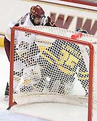 Matt Lombardi (BC - 24), Joe Cannata (Merrimack - 35) - The Boston College Eagles defeated the Merrimack College Warriors 4-3 on Friday, October 30, 2009, at Conte Forum in Chestnut Hill, Massachusetts.