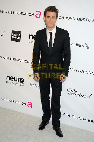 Paul Wesley.21st Annual Elton John Academy Awards Viewing Party held at West Hollywood Park, West Hollywood, California, USA..February 24th, 2013.oscars full length suit black white tie shirt.CAP/ADM/BP.©Byron Purvis/AdMedia/Capital Pictures.