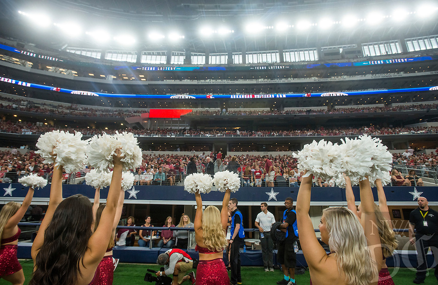 Hawgs Illustrated/Ben Goff<br /> Arkansas vs Texas A&M Saturday, Sept. 29, 2018, during the Southwest Classic at AT&T Stadium in Arlington, Texas.