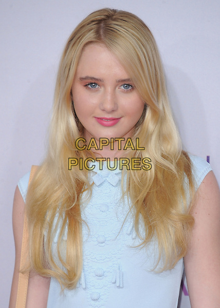 Kathryn Newton.The 2013 People's Choice Awards held at Nokia Live in Los Angeles, California 9th January 2013                                                                   .headshot portrait blue sleeveless  .CAP/DVS.©DVS/Capital Pictures.