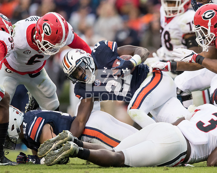 Auburn, AL - November 11, 2017: The number 10 ranked Auburn Tigers host the number 1 ranked Georgia Bulldogs at Jordan-Hare Stadium.