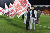 KV KORTRIJK - CERCLE BRUGGE :<br /> Beelden voor de wedstrijd en aan de aftrap met sponsors<br /> <br /> Foto VDB / Bart Vandenbroucke