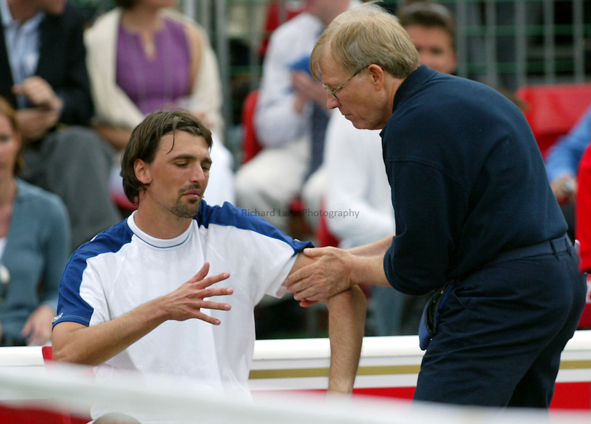 Photograph: Scott Heavey..Day 1 of the Stella Artois Championship at the Queens Club. 09/06/2003..Goran Ivanisevic