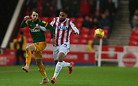 Stoke City's Ashley Williams and Preston North End's Ben Pearson<br /> <br /> Photographer Stephen White/CameraSport<br /> <br /> The EFL Sky Bet Championship - Stoke City v Preston North End - Saturday 26th January 2019 - bet365 Stadium - Stoke-on-Trent<br /> <br /> World Copyright © 2019 CameraSport. All rights reserved. 43 Linden Ave. Countesthorpe. Leicester. England. LE8 5PG - Tel: +44 (0) 116 277 4147 - admin@camerasport.com - www.camerasport.com