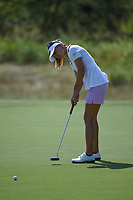 Klara Spilkova (CZE) watches her putt on 1 during the round 2 of the Volunteers of America Texas Classic, the Old American Golf Club, The Colony, Texas, USA. 10/4/2019.<br /> Picture: Golffile | Ken Murray<br /> <br /> <br /> All photo usage must carry mandatory copyright credit (© Golffile | Ken Murray)