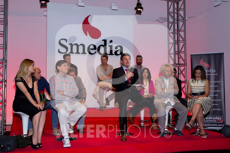 18.09.2012. Presentation of 'SMedia Group Theatre Season 2012/2013' at the Theater Cofidis in Madrid. In the image Josep Maria Flotats, Nancho Novo, Dani Rovira, Manolo Sanchis, Maria Isasi, Enrique Salaberria (President Smedia), Eduardo Aldan, Maria Adanez, Alberto San Juan, Rafael Alvarez ´El Brujo´, and Llum Barrera (Alterphotos/Marta Gonzalez) .
