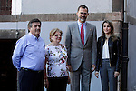 Prince Felipe of Spain (2R) and Princess Letizia (1R) of Spain visit the northern village of Teverga during the celebration of the 2013 Prince of Asturias Awards in Teverga, Spain. Teverga received the honorary mention of Exemplary Village in 2013. October 26, 2013..(ALTERPHOTOS/Victor Blanco)