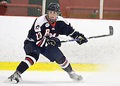 Cody Wydo (RMU - 23) - The Bentley University Falcons defeated the visiting Robert Morris University Colonials 2-1 on Friday, January 6, 2012, at the John A. Ryan Skating Arena in Watertown, Massachusetts.