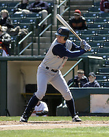April 11, 2004:  /of/ Gabe Gross (23) of the Syracuse Sky Chiefs, Class-AAA International League affiliate of the Toronto Blue Jays, during a game at Frontier Field in Rochester, NY.  Photo by:  Mike Janes/Four Seam Images