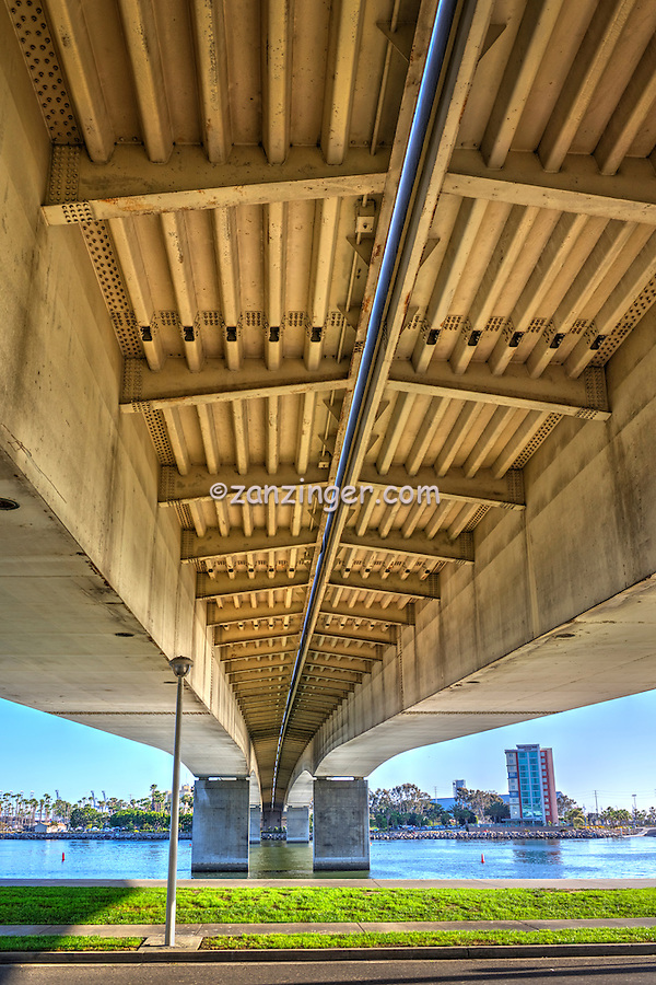 Long Beach, Queen Mary Bridge, Below, Underneath
