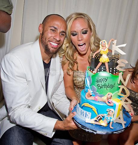 Hank Baskett and Kendra Wilkinson-Baskett  pictured as Kendra Wilkinson-Baskett celebrates her 26th birthday at PURE NIGHTCLUB at Caesars Palace in Las Vegas, NV on June 11, 2011. © Erik Kabik / MediaPunch.***HOUSE COVERAGE***