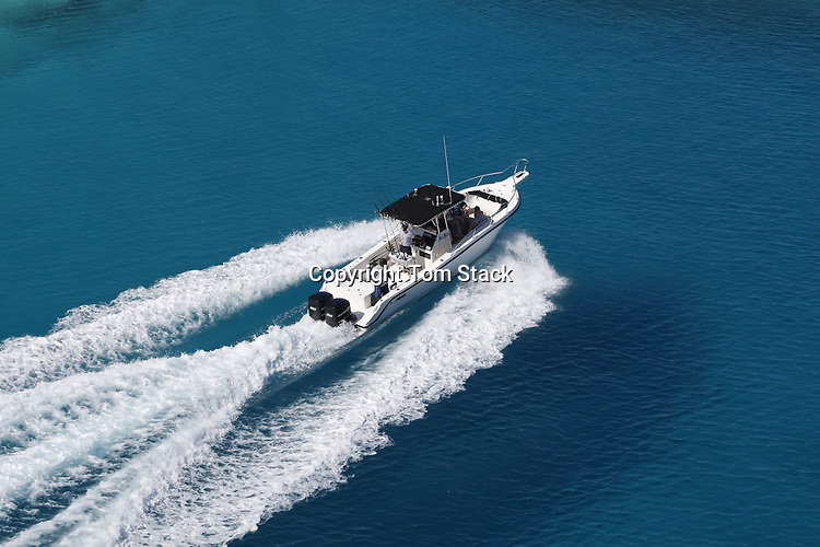 Boating in the crystal clear waters of the Bahamas