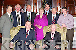 Attending the Kerry Angus Society annual social in the Killarney Avenue Hotel on Saturday night was front row l-r: Joe Moran, President of the Angus Society of Ireland, Michael Cronin. Back row: David Holland, Seamus Caulfield, Derek Lovell, Sheila Cronin, John Farrell, Kevin Diffley and Patrick O'Donnell ..