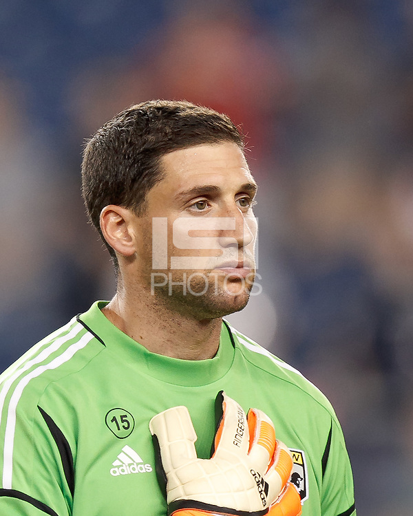 Columbus Crew goalkeeper Andy Gruenebaum (30). In a Major League Soccer (MLS) match, the New England Revolution defeated Columbus Crew, 2-0, at Gillette Stadium on September 5, 2012.