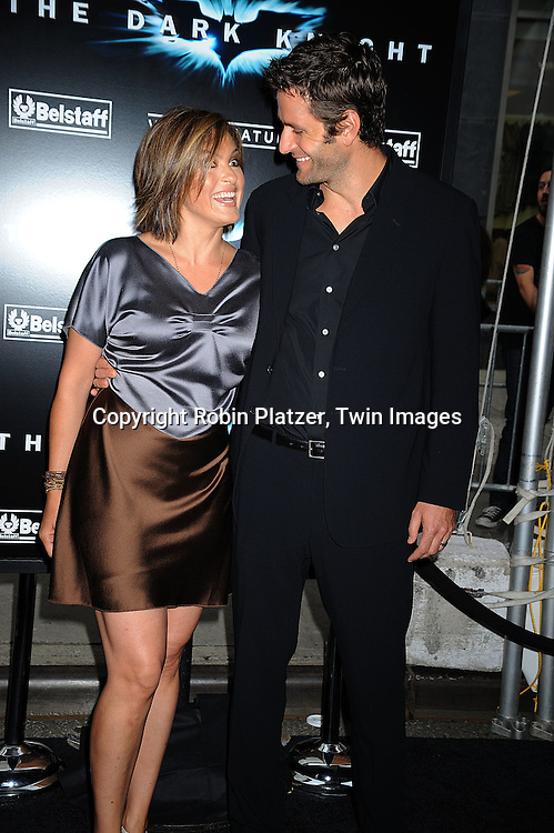 "Mariska Hargitay and husband Peter Hermann..posing at The World Premiere of ""The Dark Knight""  on July 14, 2008 at The AMC Loews Lincoln Square in New York City.  The premiere was sponsered by VISA and Belstaff.....Robin Platzer, Twin Images"