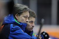 SHORTTRACK: AMSTERDAM: Jaap Edenhal, 04-01-2015, KPN NK Shorttrack, Jeroen Otter (bondscoach), ©foto Martin de Jong