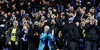 Blackburn Rovers' supporters celebrate a goal scored by Amari'i Bell  <br /> <br /> Photographer Andrew Kearns/CameraSport<br /> <br /> The EFL Sky Bet Championship - Reading v Blackburn Rovers - Wednesday 13th February 2019 - Madejski Stadium - Reading<br /> <br /> World Copyright © 2019 CameraSport. All rights reserved. 43 Linden Ave. Countesthorpe. Leicester. England. LE8 5PG - Tel: +44 (0) 116 277 4147 - admin@camerasport.com - www.camerasport.com