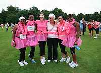 2014 July 19th<br /> Pictured: Race for Life<br /> RE: Race for Life 10K charity fundraiser event in Bute Park, Cardiff. Part of Cancer Research UK's campaign to raise money towards batting cancer.