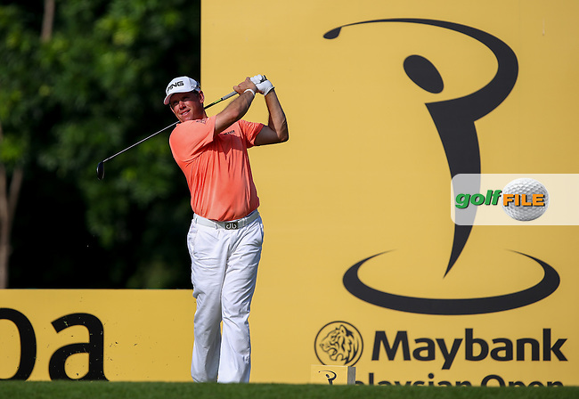 Lee Westwood (ENG) the clubhouse leader with a card of 65 during Round One of the 2014 Maybank Malaysian Open at the Kuala Lumpur Golf & Country Club, Kuala Lumpur, Malaysia. Picture:  David Lloyd / www.golffile.ie