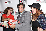 Jackie Hoffman, Seth Rudetsky and Alysha Unphress attend the Seth Rudetsky Book Launch Party for 'Seth's Broadway Diary' at Don't Tell Mama Cabaret on October 22, 2014 in New York City.