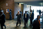 PIETERMARITZBURG, SOUTH AFRICA FEBRUARY 4: ANC president Jacob Zuma (c) is surrounded by his bodyguards as he walks out of a courtroom after he appeared in court on February 4, 2009 in Pietermaritzburg, South Africa. Mr. Zuma was recently cleared of several fraud and corruption charges and he is expected to win the general election on April 22, and become South Africa's third democratic elected president. (Photo by Per-Anders Pettersson)..