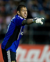 Real Salt Lake's goalkeeper Nick Rimando in action during the game against the Earthquakes at Buck Shaw Stadium in Santa Clara, California on March 27th, 2010.   Real Salt Lake defeated San Jose Earthquakes, 3-0.