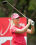 CHON BURI, THAILAND - FEBRUARY 16:  Anna Nordqvist of Sweden tees off on the 15th hole during day one of the LPGA Thailand at Siam Country Club on February 16, 2012 in Chon Buri, Thailand.  Photo by Victor Fraile / The Power of Sport Images