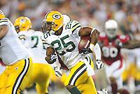 Aug. 28, 2009; Glendale, AZ, USA; Green Bay Packers running back (25) Ryan Grant against the Arizona Cardinals during a preseason game at University of Phoenix Stadium. Mandatory Credit: Mark J. Rebilas-