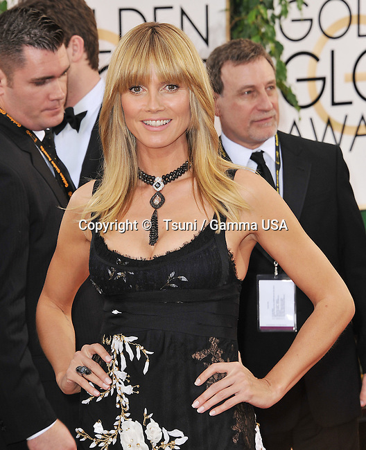Heidi Klum 340 at the 2014 Golden Globes Awards at the Beverly Hilton in Los Angeles.