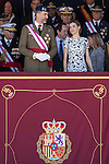 Spanish Royals King Felipe VI of Spain and Queen Letizia of Spain attend a Spanish Military parade at El Pardo Palace in Madrid, Spain. May 22, 2015. (ALTERPHOTOS/Victor Blanco)