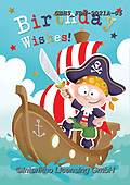 John, CHILDREN BOOKS, BIRTHDAY, GEBURTSTAG, CUMPLEAÑOS, paintings+++++,GBHSFBH-9021A-05,#bi#, EVERYDAY,pirate