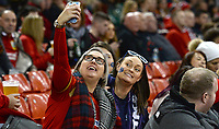 Fans prior to kick off <br /> <br /> Photographer Ian Cook/CameraSport<br /> <br /> Under Armour Series Autumn Internationals - Wales v Scotland - Saturday 3rd November 2018 - Principality Stadium - Cardiff<br /> <br /> World Copyright &copy; 2018 CameraSport. All rights reserved. 43 Linden Ave. Countesthorpe. Leicester. England. LE8 5PG - Tel: +44 (0) 116 277 4147 - admin@camerasport.com - www.camerasport.com