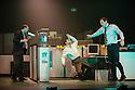 London, UK. 23.10.2013. Kristjan Ingimarsson / Neander present BLAM! at the Peacock Theatre. Picture shows: Janus Elsig, Didier Oberle and Kristjan Ingimarsson. Photograph © Jane Hobson.