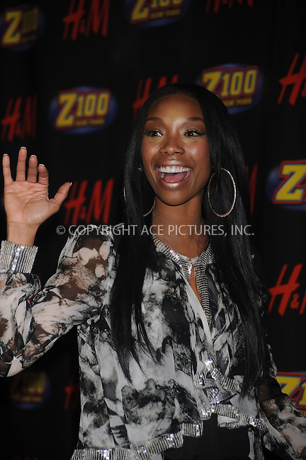 WWW.ACEPIXS.COM . . . . . ....December 12 2008, New York City....Singer Brandy in the press room at Z100's Jingle Ball at Madison Square Garden on December 12, 2008 in New York City.....Please byline: KRISTIN CALLAHAN - ACEPIXS.COM.. . . . . . ..Ace Pictures, Inc:  ..tel: (212) 243 8787 or (646) 769 0430..e-mail: info@acepixs.com..web: http://www.acepixs.com